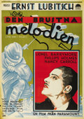 "Movie Posters:Drama, Broken Lullaby (Paramount, 1932). Swedish One Sheet (27.5"" X39.5""). (AKA ""The Man I Killed""). Directed by Ernst Lubitsch. S..."