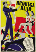 "Movie Posters:Comedy, Brokiga blad (Scandinavian Talking Pictures, 1931). Swedish OneSheet (27.5"" X 39.5""). Directed by Edvin Adolphson. Starring..."