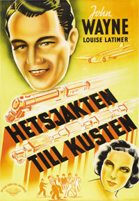 "California Straight Ahead (Universal, 1937). Swedish One Sheet (27.5"" X 39.5""). Directed by Arthur Lubin. Star..."