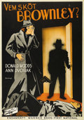 """Movie Posters:Crime, Case of the Stuttering Bishop (Warner Brothers, 1937). Swedish OneSheet (27.5"""" X 39.5""""). Directed by William B. Clemens. St..."""