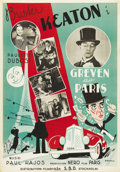 "Movie Posters:Comedy, The Champs of the Champs Elysees (Paramount, 1934). Swedish OneSheet (27.5"" X 39.5""). Directed by Max Nosseck. Starring Bus..."