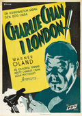 "Movie Posters:Mystery, Charlie Chan in London (Fox, 1934). Swedish One Sheet (27.5"" X39.5""). Directed by Eugene J. Forde. Starring Warner Oland, R..."