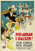 """Movie Posters:Comedy, Chasing Through Europe (Fox, 1929). Swedish One Sheet (27.5"""" X39.5""""). Directed by David Butler and Alfred Werker. Starring ..."""