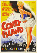 """Movie Posters:Musical, Coney Island (20th Century Fox, 1943). Swedish One Sheet (27.5"""" X 39.5""""). Directed by Walter Lang. Starring Betty Grable. Th..."""