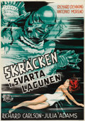 "Movie Posters:Horror, Creature From the Black Lagoon (Universal International, 1954).Swedish One Sheet (27.5"" X 39.5""). Directed by Jack Arnold. ..."