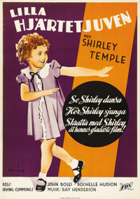 "Curly Top (Fox, 1935). Swedish One Sheet (27.5"" X 39.5""). Directed by Irving Cummings. Starring Shirley Temple..."