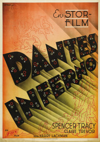"Dante's Inferno (Fox, 1935). Swedish One Sheet (27.5"" X 39.5""). Directed by Harry Lachman. Starring Spencer Tr..."