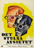 "Movie Posters:Drama, Das Gestohlene Gesicht (UFA, 1930). Swedish One Sheet (27.5"" X 39.5""). Directed by Erich Schmidt and Philipp Lothar Mayring...."
