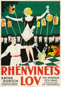 """Movie Posters:Musical, Die Lindenwirtin (Felsom-Film, 1930). Swedish One Sheet (27.5"""" X 39.5""""). Directed by George Jacoby. Starring Kathe Dorsch. T..."""