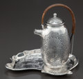 Silver & Vertu:Hollowware, A GORHAM SILVER CHOCOLATE POT AND TRAY . Gorham Manufacturing Co., Providence, Rhode Island, circa 1885. Marks: (lion-anchor... (Total: 3 )