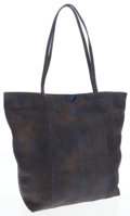 Luxury Accessories:Bags, Carlos Falchi Gray & Blue Python Tote Bag. ...