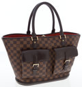 Luxury Accessories:Bags, Louis Vuitton Damier Ebene Canvas Manosque GM Tote Bag. ...