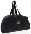 Luxury Accessories:Bags, Chanel Black Canvas Carryall Travel Bag. ...