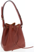 Luxury Accessories:Bags, Louis Vuitton Brown Epi Leather Noe Drawstring Bag. ...