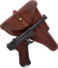 Handguns:Semiautomatic Pistol, German Mauser Banner Model P08 1939 Luger Semi-Automatic Pistolwith Holster....