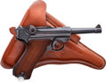 Handguns:Semiautomatic Pistol, German Mauser Banner Model P08 1939 Luger Semi-Automatic Pistol with Holster....