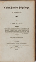 Books:Literature Pre-1900, Lord Byron. Child Harold's Pilgrimage. London: John Murray,et al., 1812. Second edition. xii, folding plate, 30...