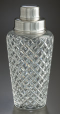 Silver Holloware, American:Other , A TIFFANY & CO. CUT GLASS AND SILVER MOUNTED COCKTAIL SHAKER .Tiffany & Co., New York, New York, circa 1948-1956. Marks:...