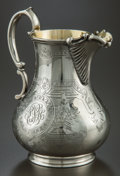 Silver Holloware, British:Holloware, A DANIEL & CHARLES HOULE VICTORIAN SILVER AND SILVER GILT CREAMJUG . Daniel & Charles Houle, London, England, circa 1853-18...