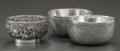Silver Smalls:Other , A PAIR OF INDIAN SILVER BOWLS WITH ONE CHINESE EXPORT SILVER BOWL .Makers unknown, circa 1905. Marks: LW, (chop mark). 2-7/... (Total:3 )