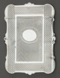 Silver Holloware, American:Other , AN ALBERT COLES ENGINE TURNED COIN SILVER CARD CASE . Albert Coles& Co., New York, New York, circa 1860. Marks: (eagle),...