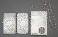 Silver Holloware, British:Holloware, THREE ENGLISH SILVER CARD CASES . Various makers, Birmingham,England, circa 1900. Marks: Various marks . 3-3/4 inches high ...(Total: 3 )