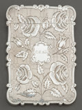 Silver Holloware, British:Holloware, A CASED NATHANIEL MILLS VICTORIAN SILVER CARD CASE. NathanielMills, Birmingham, England, circa 1849-1850. Marks: (lion pass...