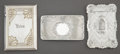 Silver Smalls:Cigarette Cases, THREE AMERICAN SILVER CARD CASES. Various makers, circa 1900.Marks: (W with griffin), STERLING, 11. 3-1/2 inches highx... (Total: 3 Items)