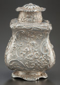 Silver Holloware, Continental:Holloware, A HANAU SILVER ROCOCO REVIVAL SILVER BOTTLE . Maker unidentified,Hanau, Germany, circa 1880. Marks: (crowned G), (cross), (...