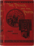 Books:Literature Pre-1900, Mark Twain. The Prince and the Pauper. Chatto & Windus,1881. First edition with publisher's catalog dated Novem...