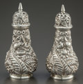 Silver Holloware, American:Other , A PAIR OF JAMES R. ARMIGER SILVER SALT & PEPPER SHAKERS. JamesR. Armiger, Baltimore, Maryland, circa 1900. Marks: THE JAS...(Total: 2 )