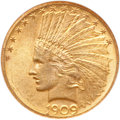 Indian Eagles, 1909 $10 MS64 NGC....