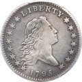 Early Half Dollars, 1795 50C 2 Leaves -- Repaired -- Genuine PCGS. XF Details. O-119,R.4....