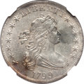 Early Dollars, 1799 $1 7x6 Stars AU55 NGC. B-5, BB-157, R.2....