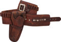 Western Expansion, Rare Inscribed Western Cartridge Money Belt and Matching ColtSingle Action Single-Loop Holster Ensemble by Shelton-Payne Arms...