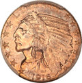 Indian Half Eagles, 1916-S $5 MS63 PCGS....