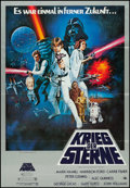 """Movie Posters:Science Fiction, Star Wars (20th Century Fox, 1978). German A1 (23"""" X 33"""") Style C.Science Fiction.. ..."""