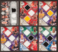 Basketball Cards:Lots, 2009 Multiple Player Jersey Swatch Inserts Card Group (6) - WithJordan, Johnson, Malone Plus Others. ...