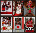 Basketball Cards:Lots, 2008 - 2008 Michael Jordan Jersey Swatch Card Group (6). ...