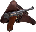 Handguns:Semiautomatic Pistol, German DWM Model P08 1910 Luger Semi-Automatic Pistol with Holster....