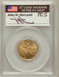 Modern Issues: , 1995-W G$5 Olympic/Torch Runner Gold Five Dollar MS69 PCGS.Signature of John M. Mercanti, 12th Chief Engraver of the U.S. ...