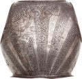 Miscellaneous, 17th Century Etched Armor Backplate....