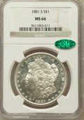 Morgan Dollars: , 1881-S $1 MS66 NGC. CAC. NGC Census: (16043/4168). PCGS Population(12151/1741). Mintage: 12,760,000. Numismedia Wsl. Price...