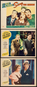 "Movie Posters:Comedy, Too Much Harmony & Other Lot (Paramount, 1933). Lobby Cards (3)(11"" X 14""). Comedy.. ... (Total: 3 Items)"