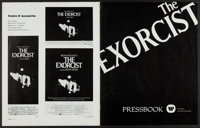 """The Exorcist & Others Lot (Warner Brothers, 1974). Uncut Pressbooks (3) (Multiple Pages, 11"""" X 14"""" & 1..."""
