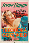"Movie Posters:Comedy, Theodora Goes Wild (Columbia, 1936). One Sheet (27"" X 41"").Comedy.. ..."