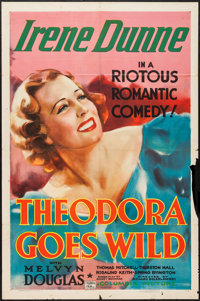 "Theodora Goes Wild (Columbia, 1936). One Sheet (27"" X 41""). Comedy"