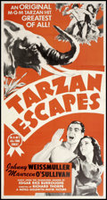 "Movie Posters:Adventure, Tarzan Escapes (MGM, R-1954). Three Sheet (41"" X 79.75"").Adventure.. ..."