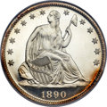 Proof Seated Half Dollars, 1890 50C PR66 Ultra Cameo NGC....