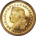 Proof Four Dollar Gold Pieces, 1879 $4 Flowing Hair PR66 Ultra Cameo NGC. Judd-1635, Pollock-1833, R.3....